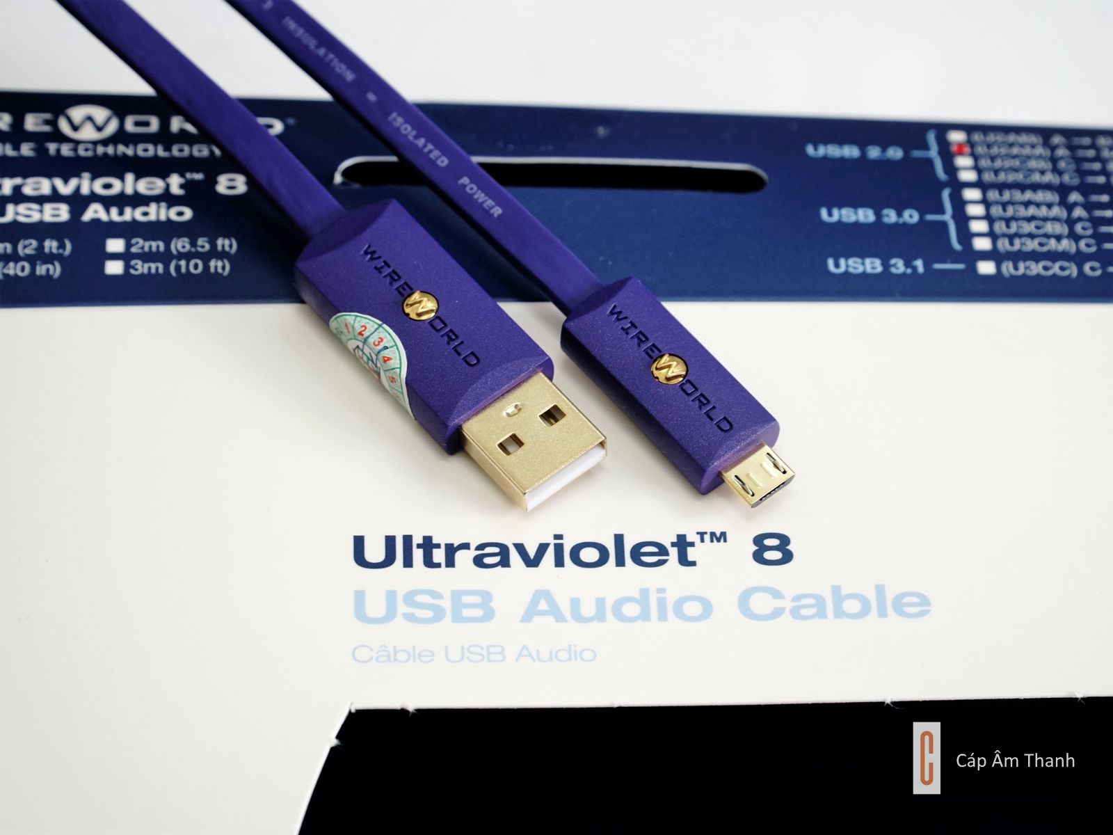 WireWorld Ultraviolet 8 USB 2.0 - A to Micro B 1m